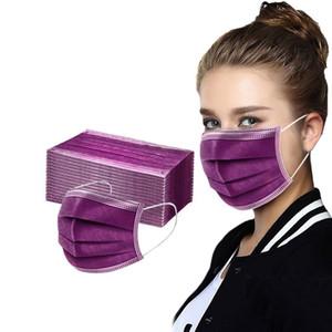 De Layers Dust Masks Protection Solid 3 Disposable Masks Design Facemask Face Women Mouth Color Cover Mascarillas Adult Tela Tjvoj