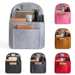 Makeup Bag Insert Travel Organizer Felt Bag Insert Cosmetic with Multi-Pockets Makeup Case Handbag Inserts Cosmetic Cases