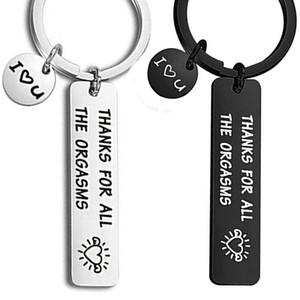 Custom Orgasms I Love You Key Ring Couple Keychain for Men Keychain Jewelry Valentine's Day Gifts Give To My Boyfriend Husband