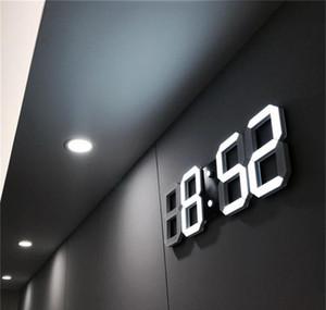 Modern Design 3d Led Wall Clock Modern Digital Alarm Clocks Display Home Living Room Office Table Desk Night Wall bbyKAg soif