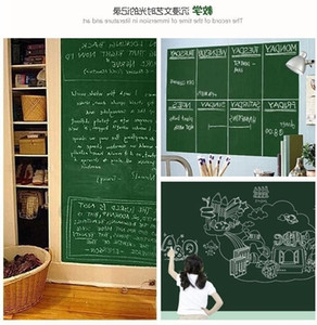 18*79inch Chalkboard Blackboard Wall Stickers Black Board Sticker Erasable Removable Sticker With Chalks Or Pen For Kids Children