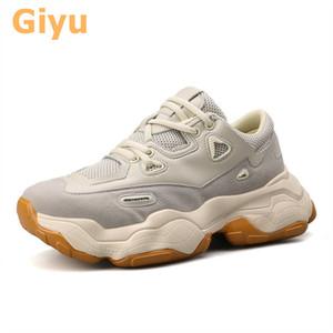 GIYU 2020 новая плоская пара дышащих толстые нижние микрофибры мягкие подошвы кроссовки маленькие белые туфли Q1206