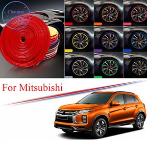 8M Multi-Color Car Chound Hub Rim Trim для Mitsubishi Asx Pajero Outlander EX Edge Protector Ring Shire Strip Strience Ruck Ruck