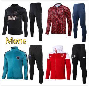 20 21 Mens Arsen soccer tracksuit football training 2020 2021 Men football tracksuit Zip Jacket Hoodie jogging jersey survtement chandal