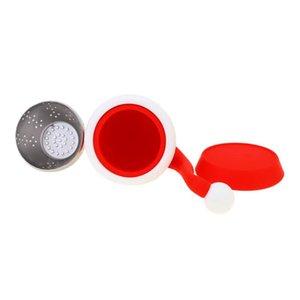 Sombrero de Navidad Fabricante de té Creativo Silicona Té Fugas antiedad Anti-Envejecimiento Alta Temperatura Uso de té fácil de limpiar HAH3509