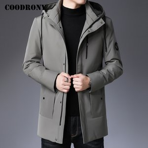 COODRONY Brand Men's Winter Jacket Fashion Casual Parka Hooded Coat Men Tops New Arrival Thick Warm Duck Down Jackets C8032 201214