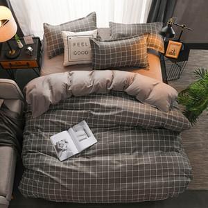 Conjunto de edredones de cama de diseñador Conjunto de ropa de cama 100% Poliéster Fibra Hogar Breve Planta Funda de almohada Funda de edredón Conjuntos Manta cómoda 129 G2