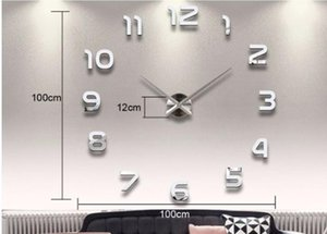 Home Decoration Big Number Mirror Wall Clock Modern Design Large Wall Clock 3D Watch Wall Unique Gifts