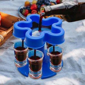 5 Shot Glass Dispenser Holder Filling Liquids Shots Dispenser Portable Party Started Drinking Wine Glasses Dispenser Sea Shipping DDA838