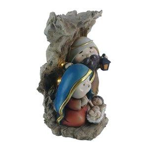 Домашняя отделка католическая статуя Рождественская встреча Рождество Святой Семья Христос Иисус Мэри Иосифа Статуэтка религиозные Zayton Kid Grad 201203