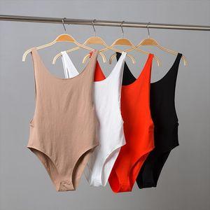 Bodysuit women Sexy Backless Summer bodysuits Cotton Bodycon jumpsuits for women 2020 Beach Bodysuits Rompers womens jumpsuit
