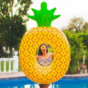 Rooxin Pineapple Pool Float Ring for Adult Inflatable Circle Floating Bed Water Baby Swimming Seat Summer Party Toys Z1202