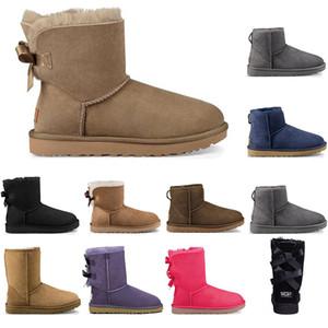 UGG 2020 hochwertige frauen damen winter schnee stiefel für weibliche outdoor have warme lila bogen grau klassische rote mini kurze boot schuhe frau