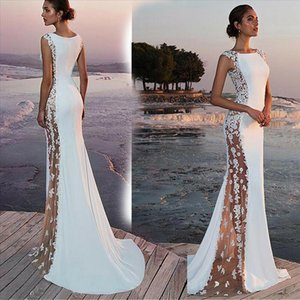 Women Lace Sleeveless Sexy Long Evening Party Ball Gown Bodycon Prom Gown Elegant Formal Dress White
