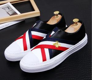 2021 고품질 패션 남자 높은 상위 B인가 럭셔리 신발 남자 레드 골드 블랙 바닥 신발 로퍼. 38-43.