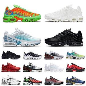 2020 Plus III Tn 3 Men Women Tuned Tennis Running Shoes Hot Black Red Hyper Blue Sunset Trainers Best Cushion Sport Sneakers 36-45