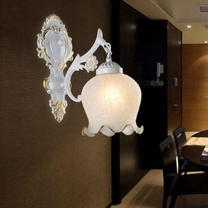 Golden generation minimalist hotel bedside corridor glass wall lamp LED aisle single head European wall lamp