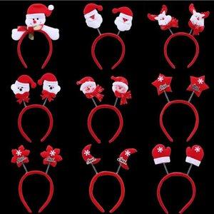 10 teile / los Kinder und Erwachsene Weihnachten Stirnbänder Buckhorn Santa Claus Hörner von Elk Ornament Haarbänder für Festivaldekorationen Y1125
