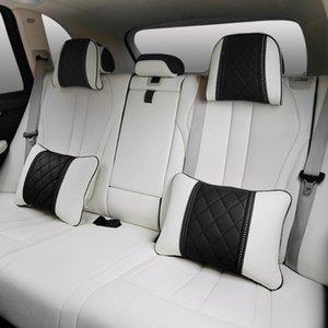 Napa Cuir de voiture Coussin d'oreiller Coussin de voiture Taille de repos Siège Dos Rest Rest Coussin lombaire pour accessoires