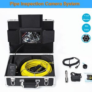 20M Cable 7 inch LCD 1000TVL 23mm Lens Waterproof Drain Pipe Inspection System 12pcs LED Light