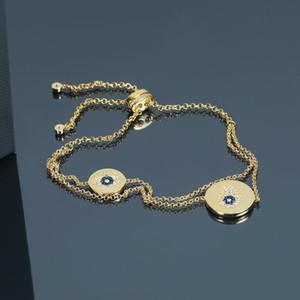 2019 new fashion 925 sterling sliver evil eyes pendant chain bracelets gold brand original luxury bracelets bracelets girl women