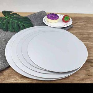 Cake Board rondes Circle Blanc Circle Carton Porte-bases jetables Plateau de plaque 5 tailles pour la décoration de gâteau Fournitures de cuisson My-Inf0495