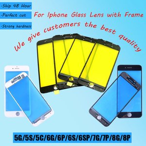 100% Unused Touch Panel Replacement For iPhone 5G 5S 6G 6S 6Plus Front Outer Screen Glass Lens With Frame Bezel Repair parts