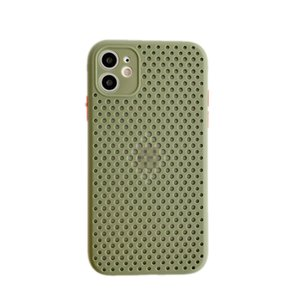 IPhone12 Simple Mesh Case for Apple Breathable Cooling Mobile Case