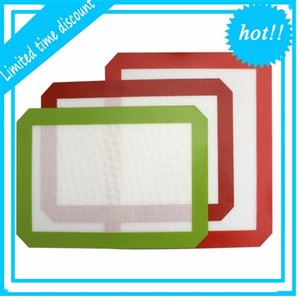 Non-Stick Dab Mats (11.8 x 8.3 inch) Silicone Baking Mat for Wax Oil Bake Dry Herb Glass Water Bongs Rigs