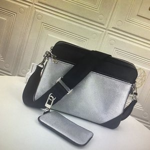 TRIO Messenger Bag Eclipse Reverse Canvas Mens Crossbody Bags 3 Piece Set Fashion Leather Man Shoulder Bag With Purse Wallet Clutch 69443