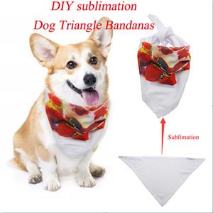 Sublimazione Diy Pet Dog Bandane regolabile cane Sciarpa Bow Tiess Triangolo Bandana per cani lavabile Fazzoletto per cani gatti animali