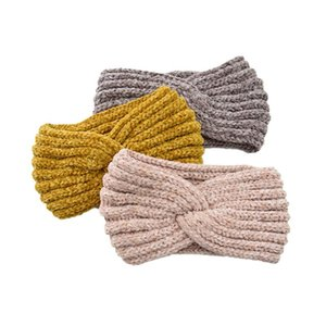 Turban Hat Woven Twisted Headbands Solid Handmade Knitting Elastic Women Hairbands Ear Protected Warm Winter Headband
