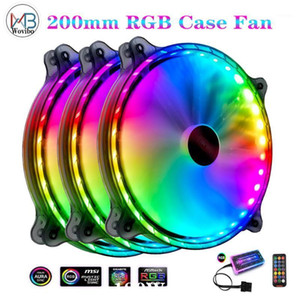 High Airflow 200mm PC Case fan quiet cooling for computer 6PIN Mute PWM RGB Led Case Fans cooler adjustable fan Radiator1
