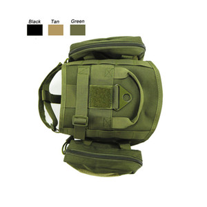 Outdoor Camouflage Clothes Molle Load Jacket Gear Carrier Tactical Dog Training Vest Harnesses with Pouches NO06-208 2 NMJOX
