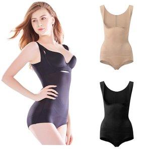 Shapewear Frauen Ganzkörper-Shaper Abnehmen Bodysuit Offener Schritt Corset Taille Trainer Gestalten Unterwäsche PostPartum Erholungshülle