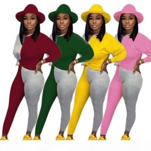 womens long sleeve tracksuit pullover pants sportswear hoodie legging 2 piece set sweat suit outerwear tights outfits very hot hot2766