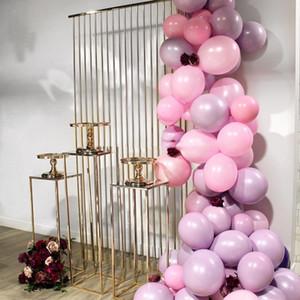 2021 Grand Event Stage Celebration DIY Iron Backdrops Cake Dessert Stand Luxury Wedding Birthday Party Flower Balloons Cake Display Plinths