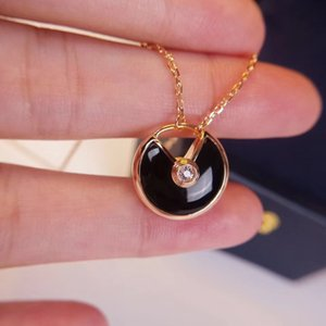 Amulet Fashion Jewelry Necklace Top Grade Shell Flying Saucer Pendant Sets Female Neck Rose Gold Jewel Women Girl Y1130