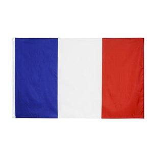 90x150 cm Fransa Flag Polyester Baskılı Avrupa Afiş Bayrakları ile 2 Pirinç Grommets ile Fransız Ulusal Bayrakları ve Afiş FWD3329 Asılı