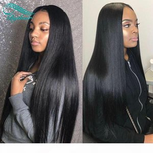 Silky Straight Lace Front Human Hair Wigs Pre Plucked With Baby Hair Glueless Lace Front Wigs Bleached Knots Peruvian Virgin Hairs Bythair