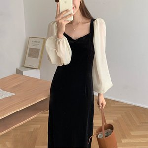 Elegant Long Sleeve Sexy Off the Shoulder Velvet Bodycon Dress Women Spring Draped Ruched Pencil Sheath Dresses OL Fitted Dress
