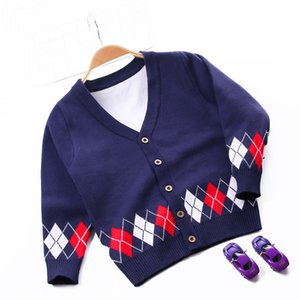2-8T Toddler Kid Boy Clothes Autumn Winter Sweater For Infant Boy long sleeve Knitted Cardigan Gentleman Cute Top Outfit
