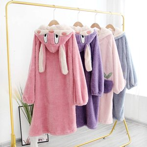Autumn and Winter Warm Flannel Couple Set Nightgown Men and Women Bathrobes Polyester Pajamas Free shipping lovers pyjama