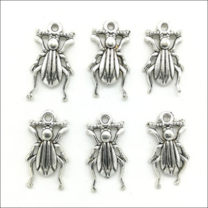 Lot 200pcs Insects Antique Silver Charms Pendants DIY Jewelry Findings For Jewelry Making Bracelet Necklace Earrings 17*9mm