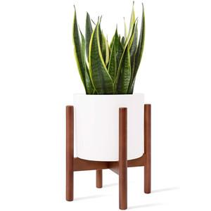 Стенд растений Mkono не включает в себя растениевые горшки, средневековые деревянные стойки цветочного горшка, внутренний дисплей для горшечных растений