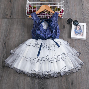 2-7y Toddler Baby Kid Girls Princess Tutu Dress Bow Flower Backless Birthday Pageant Party Wedding Dresses F jllrKt