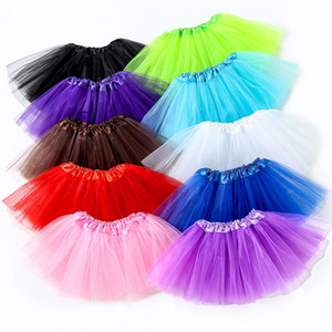 10 colors Top Quality candy color kids tutus skirt dance dresses soft tutu dress ballet skirt pettiskirt clothes 10pcs lot 14 O2