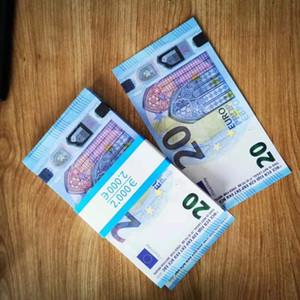 Nuevo Top 100 unids Contando Billete de banco Papel educativo Buena Propor Euros Money Falsifit Desk Money Envío gratis