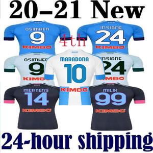 2021New Retro Napoli quarto quarta jerseys 87 88 89 93 Maradona Nápoles de futebol clássico 86 Boca Juniors Careca Maradona Camisa de Futebol Vintage