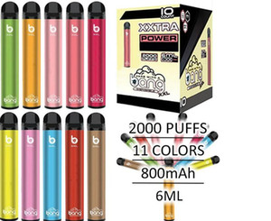 bang XXL disposable vape pen starter kit 800mah battery mod pen pod vaping cartridge e cig device portable vape 2000 puff e cig kit